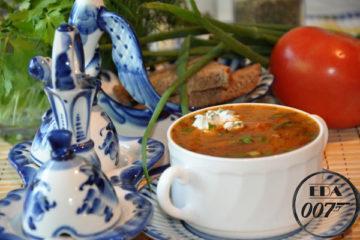 Харчо по советски - готовое блюдо