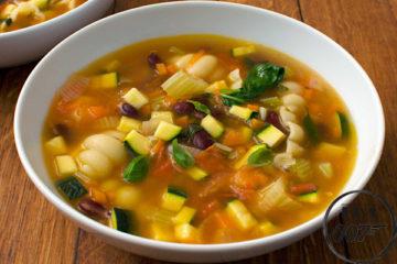 суп - менестроне (классический) - готовое блюдо