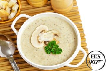Суп грибной с шампиньонами - готовое блюдо