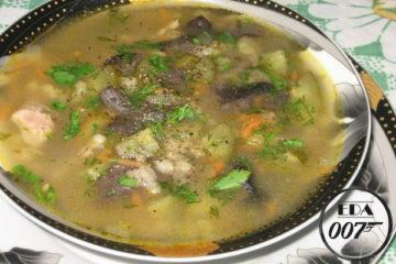 Суп грибной в духовке - готовое блюдо