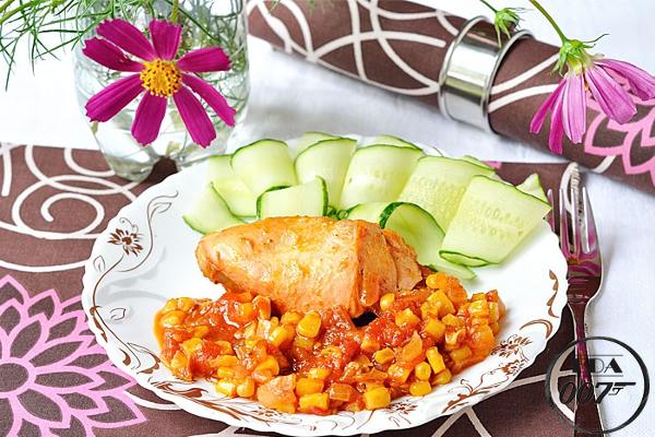 Цыплёнок по мексикански - готовое блюдо